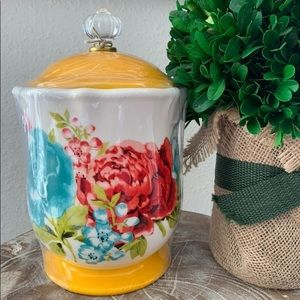 New Pioneer Woman Floral Canister & lid